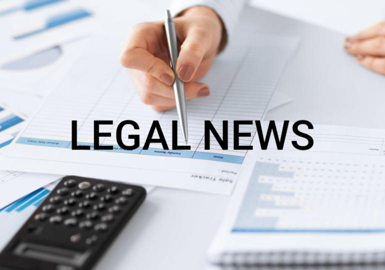 Legal news - 15 Maggio