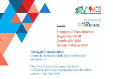 Congresso Dipartimento Regionale ANDI Lombardia 2020 - Sabato 7 Marzo 2020